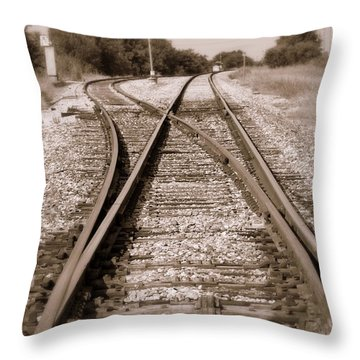 Hobo's Road Throw Pillow