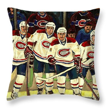 Hockey Art The Habs Fab Four Throw Pillow