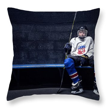 Hockey Strong Throw Pillow
