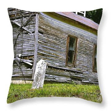 Hocking Hills Church Throw Pillow