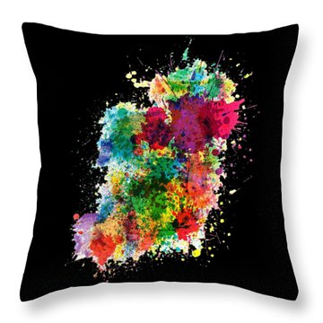Hodge Podge T-shirt Throw Pillow by Herb Strobino