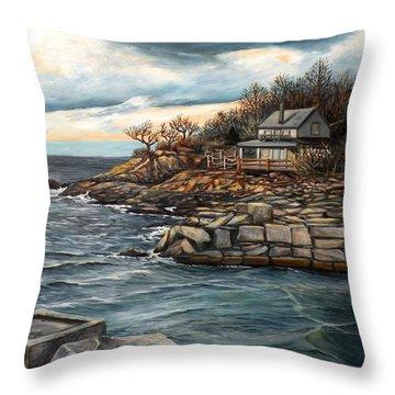 Hodgkins Cove Gloucester Ma Throw Pillow