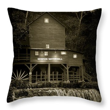 Hodgson Gristmill Throw Pillow by Robert Frederick