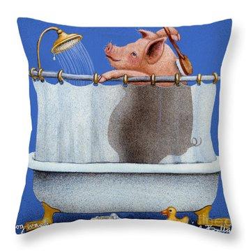 Hog Wash Throw Pillow