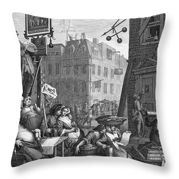 Hogarth: Beer Street Throw Pillow by Granger