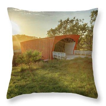 Hogback Covered Bridge 2 Throw Pillow