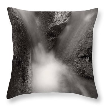 Hogback Creek And Granite Inyo Natl Forest Bw Throw Pillow by Steve Gadomski