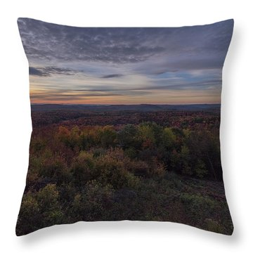 Hogback Morning Throw Pillow by Tom Singleton
