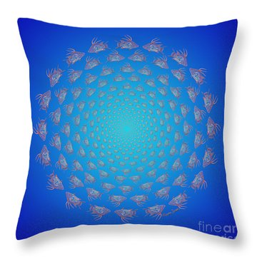 Tribal Hogfish Happenings Throw Pillow