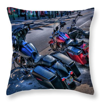 Hogs On 7th Ave Throw Pillow