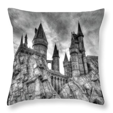 Hogwarts Castle 1 Throw Pillow by Jim Thompson