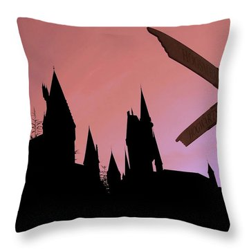 Throw Pillow featuring the photograph Hogwarts Castle by Juergen Weiss
