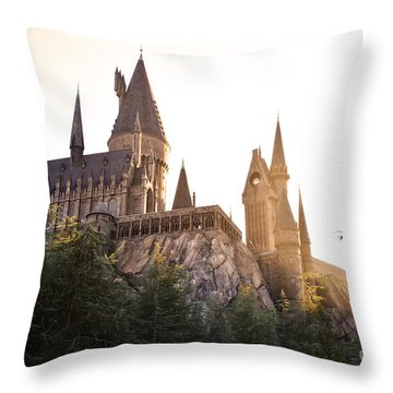 Hogwarts Dusk Throw Pillow by Rebecca Parker