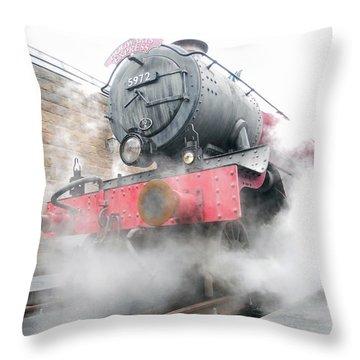 Throw Pillow featuring the photograph Hogwarts Express Train by Juergen Weiss