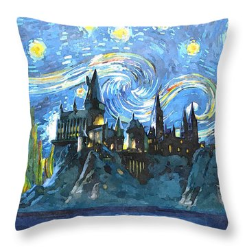 Harry Potter Starry Night Throw Pillow
