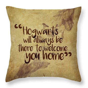 Hogwarts Is Home Throw Pillow