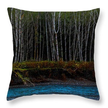 Hoh River Throw Pillow
