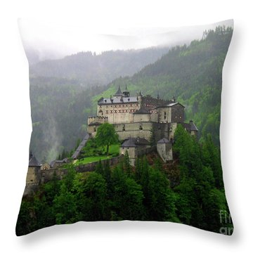 Hohenwerfen Castle Throw Pillow by Sheila Ping