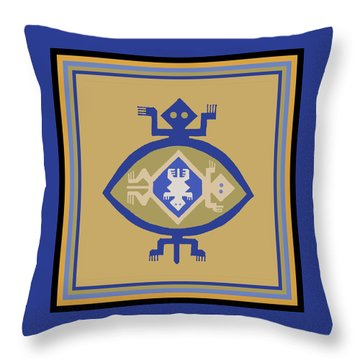 Hohokam Mimbres Turtle Family Throw Pillow