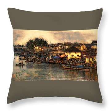 Hoi Ahnscape Throw Pillow by Cameron Wood