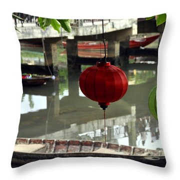 Hoi An Canoe Throw Pillow
