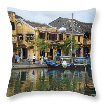 Hoi An On The River Throw Pillow