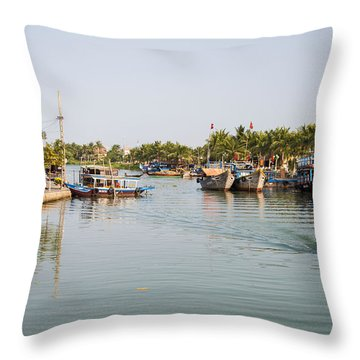 Hoi An River Throw Pillow