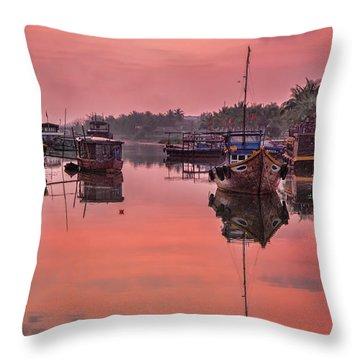 Hoi An Sunset  Throw Pillow