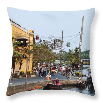 Hoi An Town Vietnam Throw Pillow