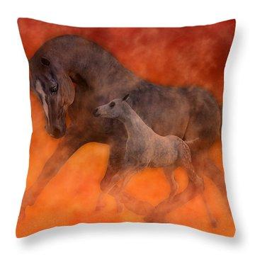 Hokie Horses Throw Pillow