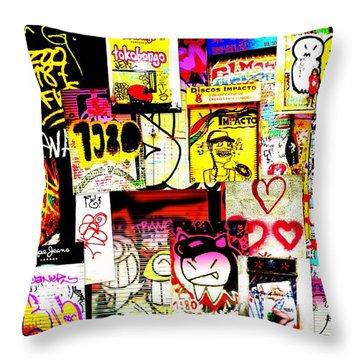 Hola Barcelona Throw Pillow by Funkpix Photo Hunter
