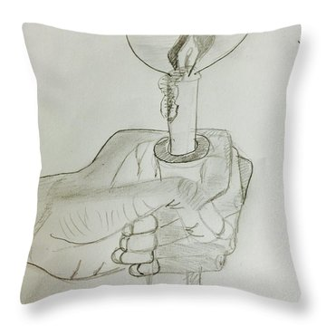 Hold Candle  Throw Pillow