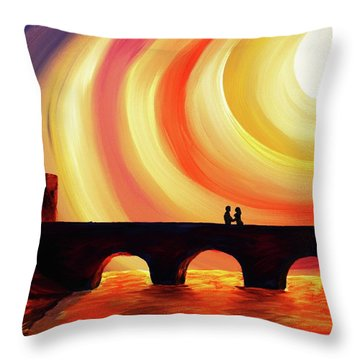 Hold Me Throw Pillow by Angel Reyes