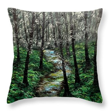 Hold My Hand For Awhile Throw Pillow