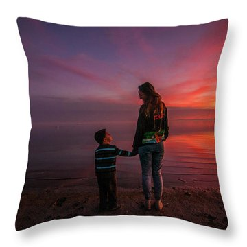 Hold My Hand Little Brother Throw Pillow