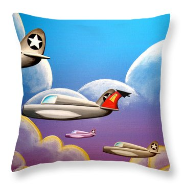 Hold On Tight Throw Pillow by Cindy Thornton