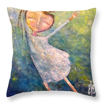 Hold On Tight Throw Pillow by Eleatta Diver
