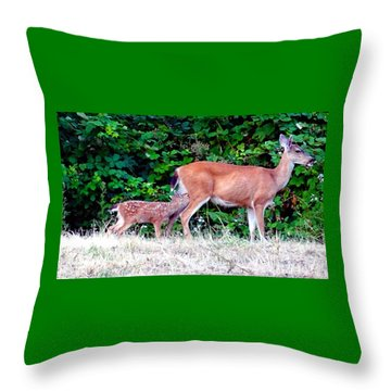 Hold Still Mom Throw Pillow