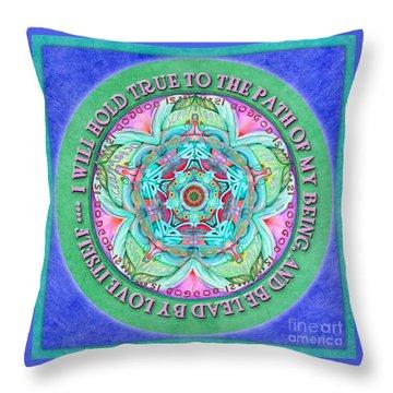 Hold True Mandala Prayer Throw Pillow