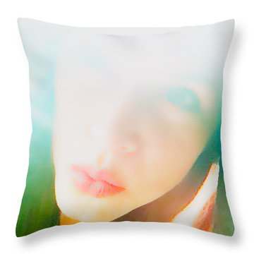 Hold Your Breath Throw Pillow by Amanda Barcon