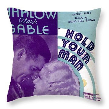 Hold Your Man Throw Pillow by Mel Thompson
