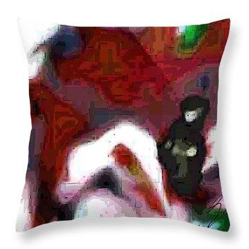 Holding Area Throw Pillow