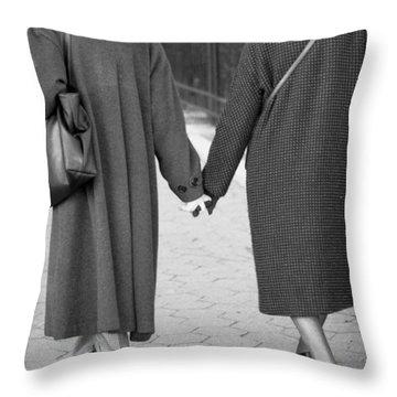 Holding Hands Friends Throw Pillow