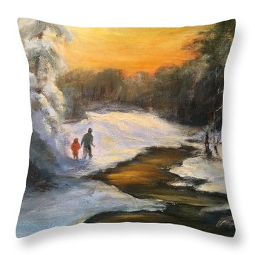 Holding My Father's Hand Throw Pillow