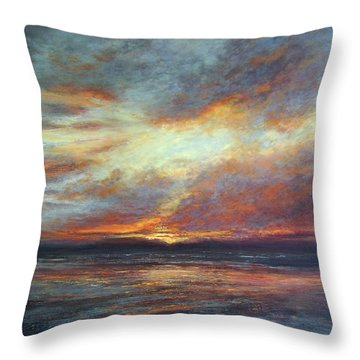 Holding On A Little Longer Throw Pillow by Valerie Travers