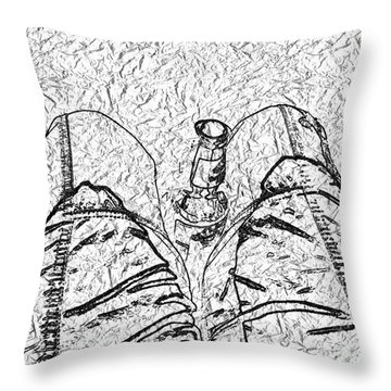 Holding The Beer Throw Pillow