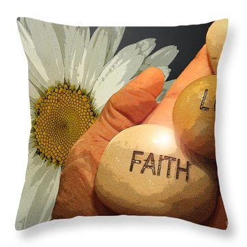 Holding The Future  Throw Pillow by Cathy  Beharriell
