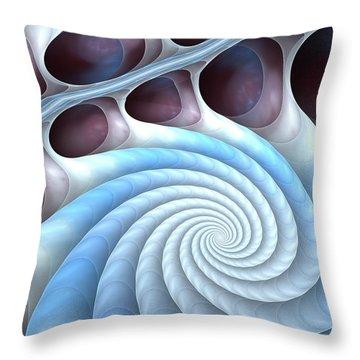 Throw Pillow featuring the digital art Holding Tight by Anastasiya Malakhova