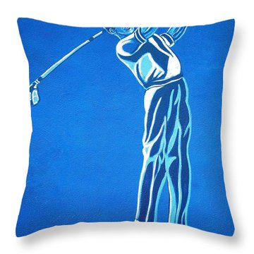 Throw Pillow featuring the photograph Hole In One ... by Juergen Weiss