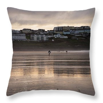 Throw Pillow featuring the photograph Hole In The Clouds by Nicholas Burningham